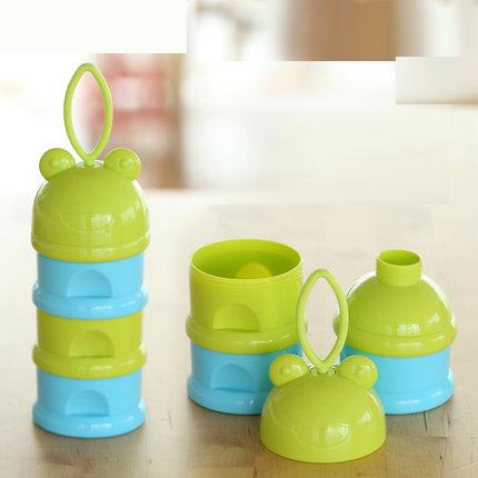 圣菲婴儿大容量外出奶粉盒 便携奶粉格