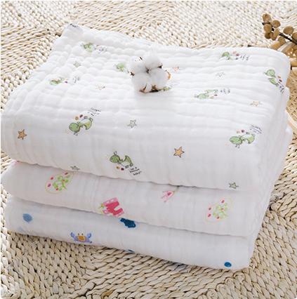 小哈伦婴儿浴巾宝宝儿童纱布毛巾被新生儿纯大盖毯