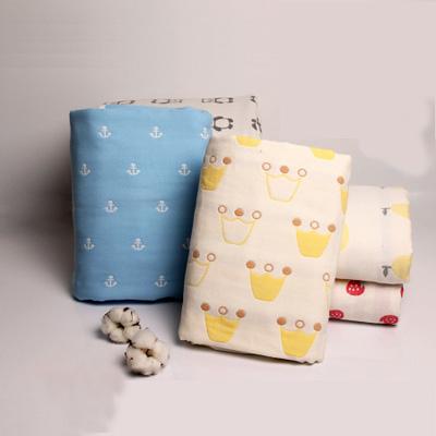 婴儿浴巾 纯棉超柔吸水宝宝纱布浴巾新生儿童毛巾被