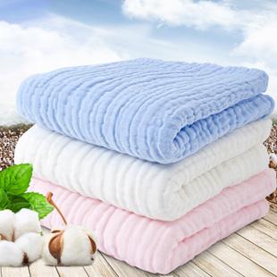 婴儿浴巾新生儿纯棉纱布毛巾被宝宝浴巾四季加厚盖毯