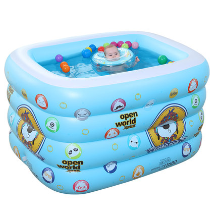 诺澳充气婴儿游泳池保温儿童宝宝戏水池游泳桶