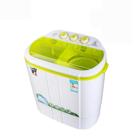小鸭牌迷你洗衣机小型婴儿尿布洗衣机双缸双桶半自动