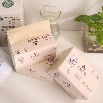 森林天使婴儿抽纸餐巾纸本色纸巾 360张12包