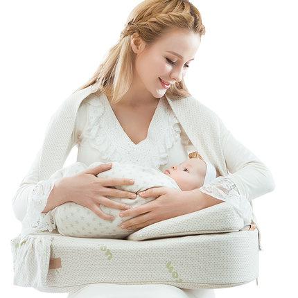 爱孕进口棉哺乳枕头喂奶枕多功能哺乳垫