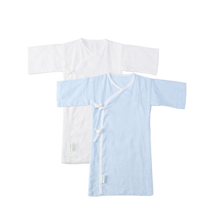 全棉时代 盒装纯棉长款和袍纱布婴儿服2件