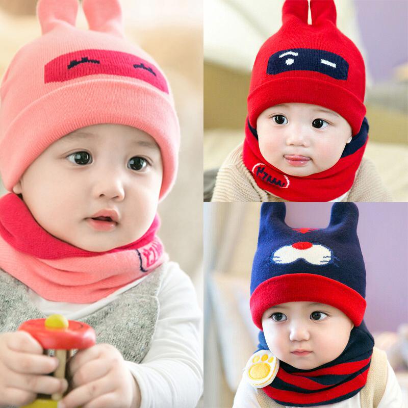 新生儿帽子春秋宝宝帽子毛线帽