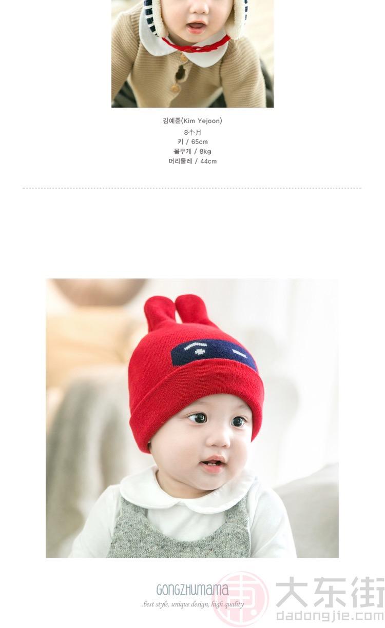 宝宝毛线帽款式2