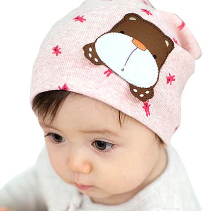 婴儿帽子秋冬套头帽胎帽男女宝宝帽1-2岁睡帽