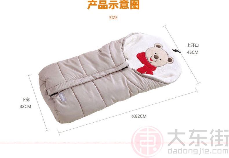 婴儿抱被睡袋经典款产品尺寸