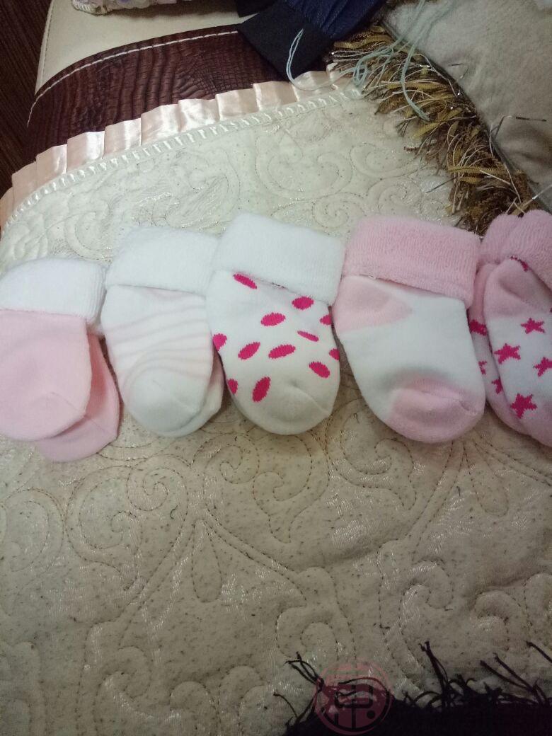 新生儿袜子宝妈晒照2