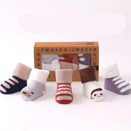 加厚保暖婴儿袜子秋冬季0-1-3岁,全棉让你更放心