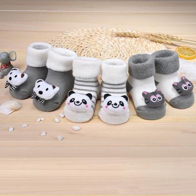 宝宝袜子纯棉加厚秋冬婴儿袜0-6-12个月