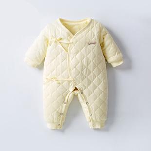 童泰婴儿连体衣冬季新生儿和尚服