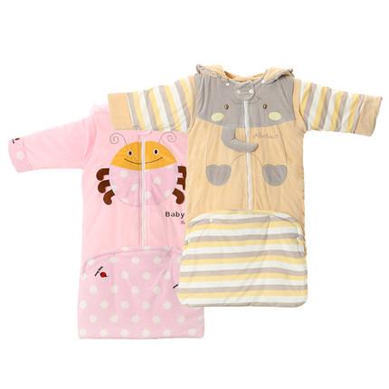 婴儿睡袋冬款宝宝睡袋防踢被子可拆袖