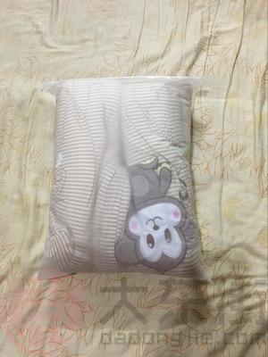 浣碧有机彩棉婴儿睡袋宝妈晒照1