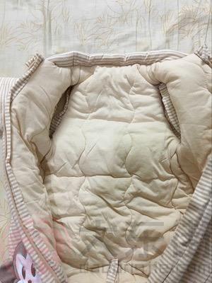 浣碧有机彩棉婴儿睡袋宝妈晒照2