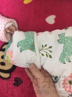 分腿婴儿睡袋宝妈晒照1