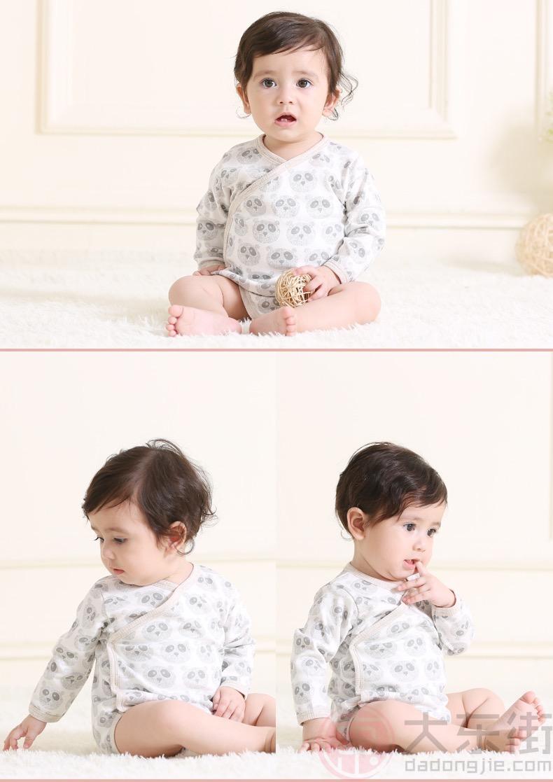 婴儿三角哈衣模特展示1