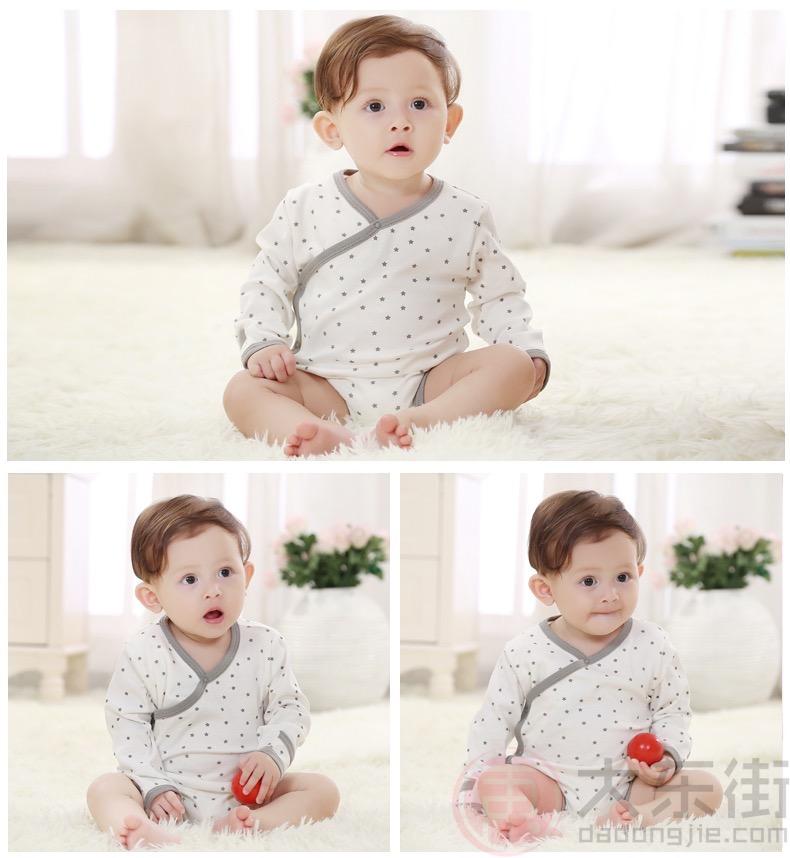 婴儿三角哈衣模特展示2