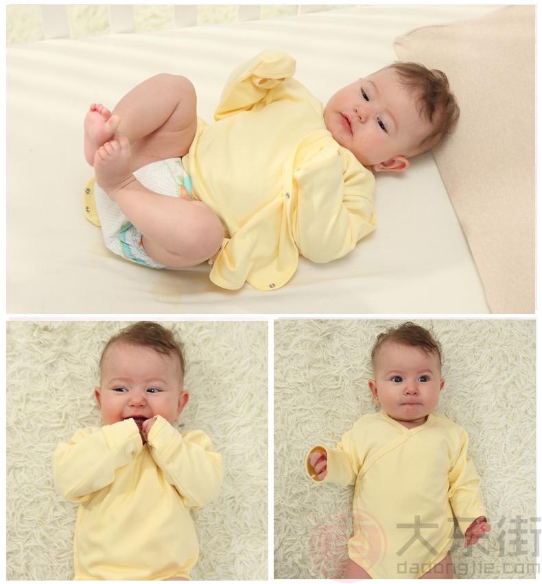 婴儿三角哈衣黄色
