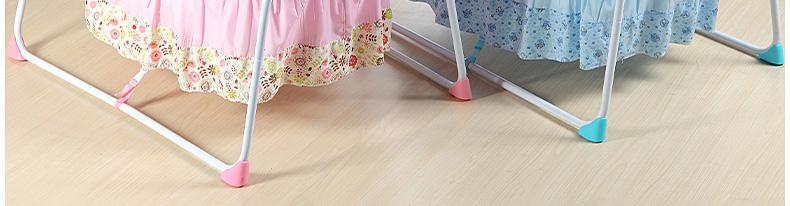 婴儿床电动摇篮床粉蓝款色
