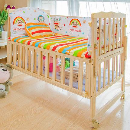 施艺婴儿床实木无漆环保,买的放心用的安心