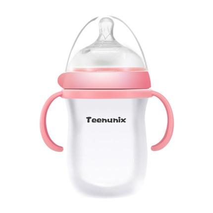 婴儿硅胶奶瓶新生儿喝水奶瓶,给宝宝最可爱的奶瓶